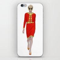 moschino iPhone & iPod Skins featuring Runway Moschino Girl McDonalds by RickyRicardo787