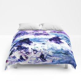 Monet : Storm At Belle Ile Vibrant Comforters