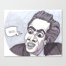 Nicholas Cage loves bees. Canvas Print