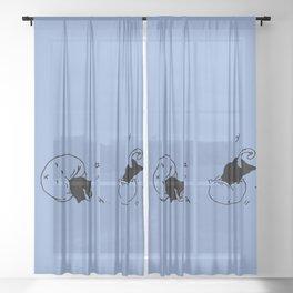 Childish - Wisteria blue Sheer Curtain