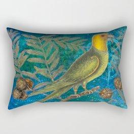 Carolina Parakeet with Cypress, Antique Natural History and Botanical Rectangular Pillow