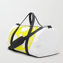 Caution Radioactive Sign In Yellow Duffle Bag