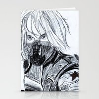 winter soldier Stationery Cards featuring Winter Soldier  by Pruoviare