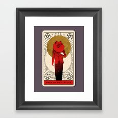 Page of Pentacles Framed Art Print