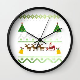 Your Mom Believes In Santa Ugly Christmas Sweater Wall Clock