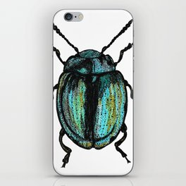 Blue Beetle iPhone Skin