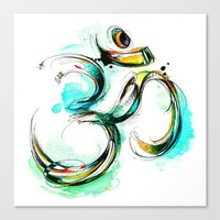 ohm Canvas Prints featuring Ohm by Abby Diamond