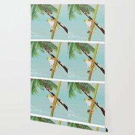 Costa Rica Tree Frog travel poster. Wallpaper