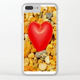 Beached Heart Clear iPhone Case