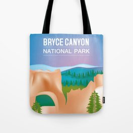 Bryce Canyon National Park, Utah - Skyline Illustration by Loose Petals Tote Bag