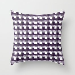 Purple Squares. Manchester Architectural Collection Throw Pillow