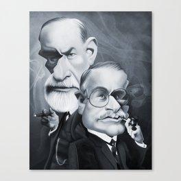 Sigmund Freud and Carl Jung Canvas Print