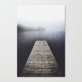 Fading into the mist Canvas Print
