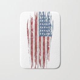 Ripped-American-Flag Bath Mat