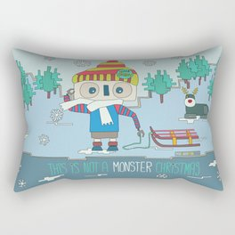 This is not a Monster Christmas Rectangular Pillow