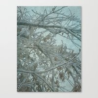 frozen Canvas Prints featuring Frozen by DesignsByMarly