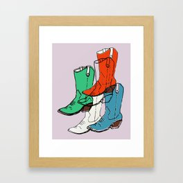Cowgirl Boot Mood - these boots are made for walking Framed Art Print