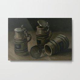 """Vincent van Gogh - Beer Tankards """"Bierpullen"""" (1884) Metal Print"""