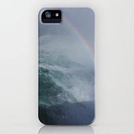 Rainbow through the Falls iPhone Case
