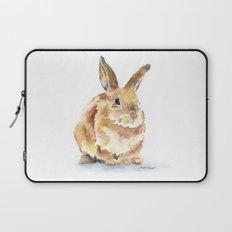 Bunny Rabbit Watercolor Painting - Woodland Animal Art Laptop Sleeve
