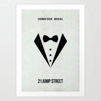 21 Jump Street Minimalist Poster Art Print