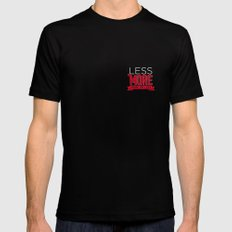 Less is more MEDIUM Mens Fitted Tee Black