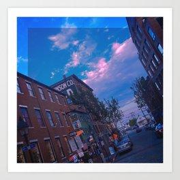 Summer on Moulton Street, Old Port, Portland, Maine Art Print