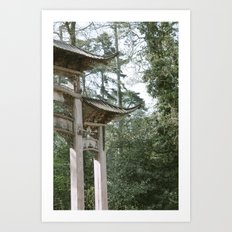 Chinese doorway Art Print