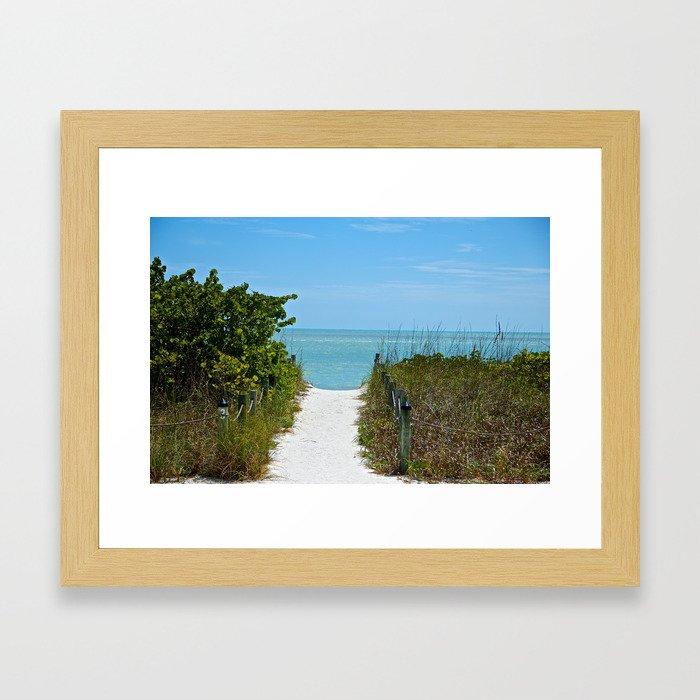 """ Return To The Beach ""  Framed Art Print"