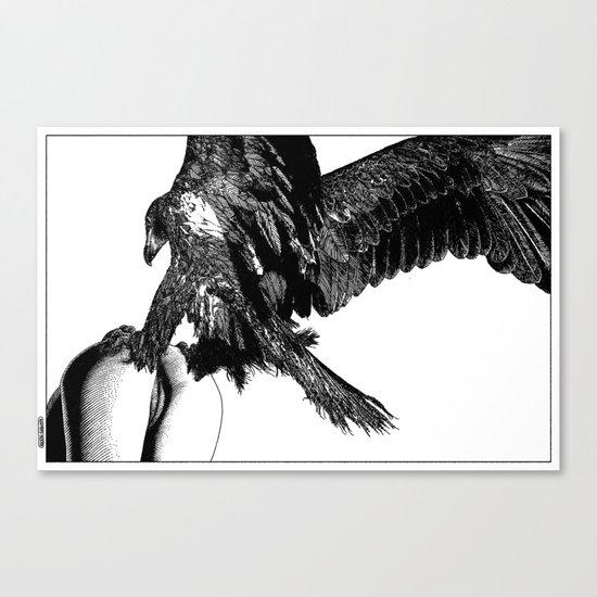 asc 636 - La fauconnière (Bird of prey) Canvas Print