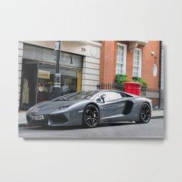 Grey Aventador  Metal Print