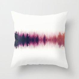 Sound waves -fall Throw Pillow