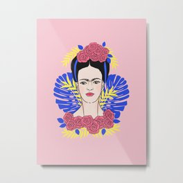 Tribute to Frida #1 Metal Print