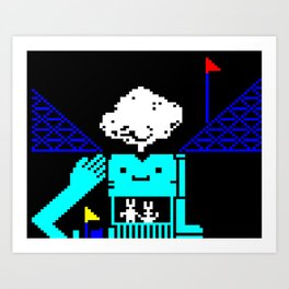 Do You Go Where I Go? page 3 (teletext) Art Print