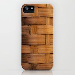 wooden basket iPhone Case