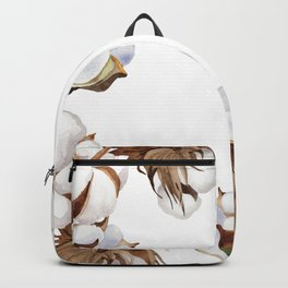 Cotton Flower Frame 01 Backpack