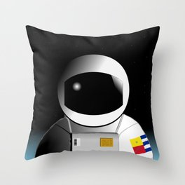 We're floating out in space... Throw Pillow