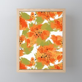 Papaya Explosion #society6 #papaya Framed Mini Art Print