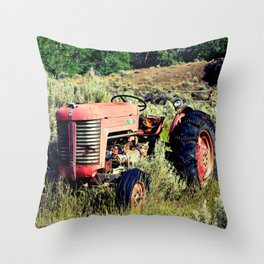 Wanna Take A Ride On My Tractor? Throw Pillow