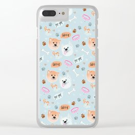 Yato Pups Shiro blue theme Clear iPhone Case