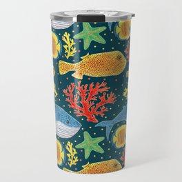 Sea Life Print Travel Mug