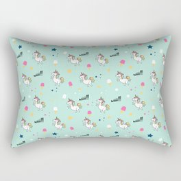 world of unicorns and ice cream Rectangular Pillow