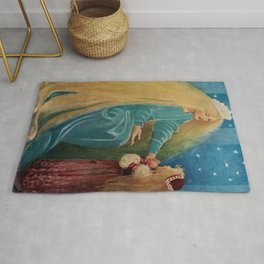 The Princess and the Goblin fairy tale children's portrait painting by Jessie Wilcox Smith Rug