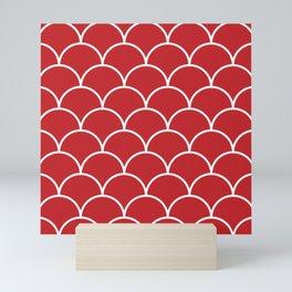 Scales - red Mini Art Print