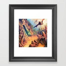 Chased Through Lava Framed Art Print