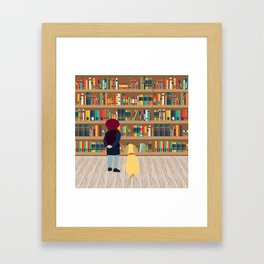 Take a book to kennel Framed Art Print