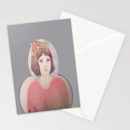 flower girl - floral Stationery Cards
