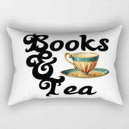 Books and Tea Rectangular Pillow