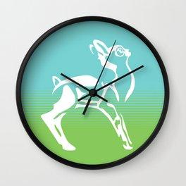 Spring is in the air deer Wall Clock