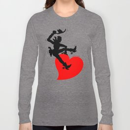 Cowboy Riding a Wild Heart Long Sleeve T-shirt